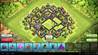 Clash of Clans Best Town Hall 8 Base Layout: TH8 Farm / War Defense
