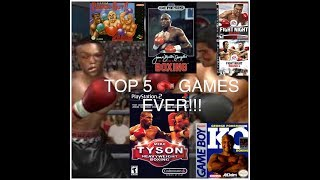 Top 5 Boxing Video Games of all TIME!!!!! Countdown+Review