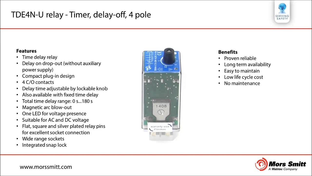 Tde4n U Relay Timer Delay Off 4 Pole Youtube Power With