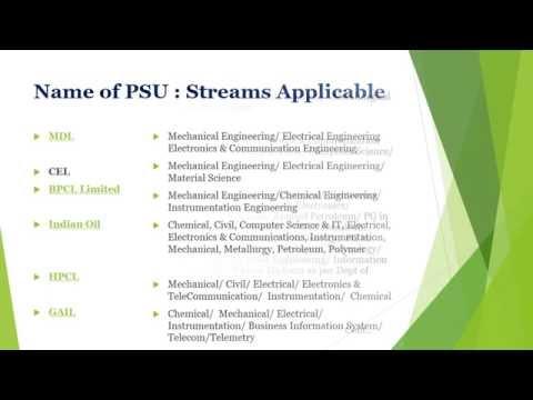 List of PSU Jobs through GATE 2017 | 3800 PSU Recruitment 2017