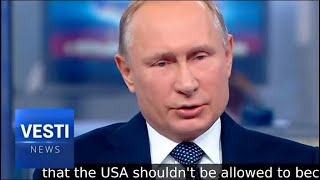 Vladimir Putin: EU is Finally Openly Talking about It, They Are Sick Of Washington's Meddling