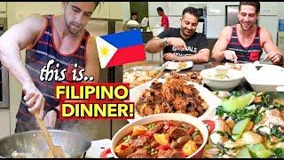 FILIPINO Teaching Me How To COOK FILIPINO DISHES!🤤 Caldereta, Tinola & Adobo