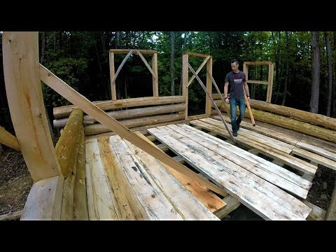 Cabin Flooring, Tractor Breakdown, Wheelbarrow Logging- Log Cabin Update- Ep 10.9