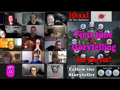 First time storytelling Blood on the Clocktower: Trouble Brewing with 12 players Game #1