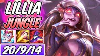 FULL AP LILLIA JUNGLE NIGHTBRINGER CLEAN DIAMOND GAMEPLAY | Build & Runes | League of Legends