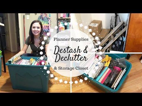 Destash & Declutter With Me | Planner Supplies & Office Storage Closet |