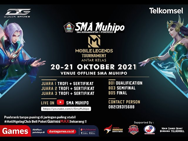 LIVE.!!! MCC Esport Mobile Legends   Qualification 2   SMA Muhammadiyah 1 Ponorogo