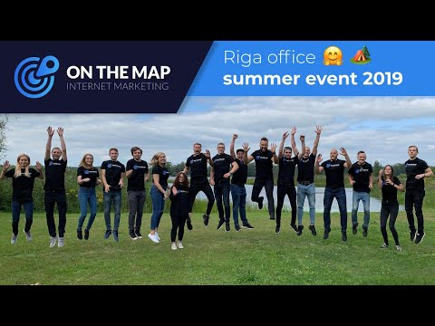Riga office summer event 2019 | On The Map Marketing