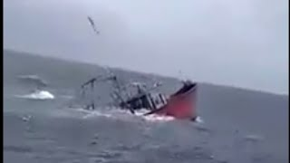 Sinking boat cought on camera 2018