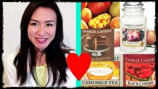 Best Yankee Candles TOP5 ♥ Black Cherry Sugared Apple Camomile Chocolate Cake Mango Peach Thumbnail