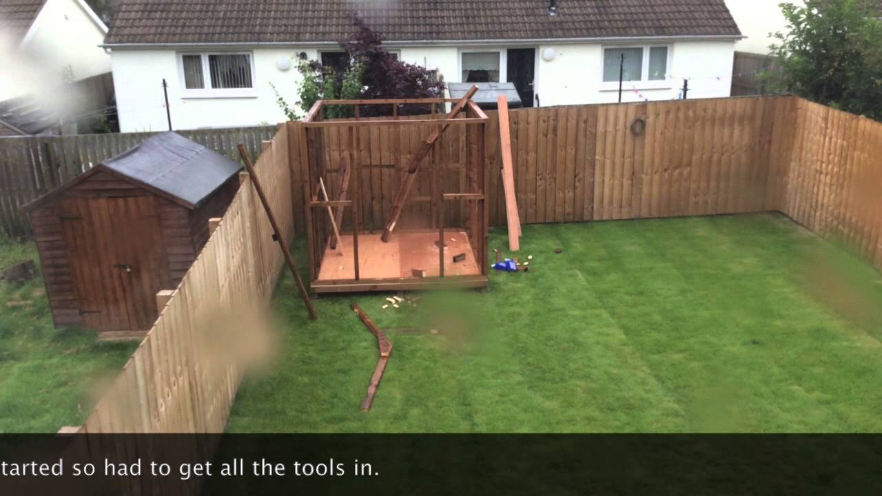 8x8 Shed Build Timelapse Youtube