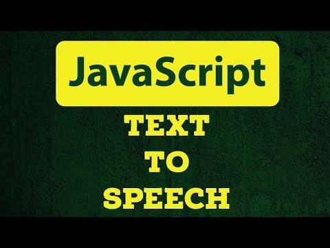 JavaScript Text To Speech With Code Example   Web Speech Api