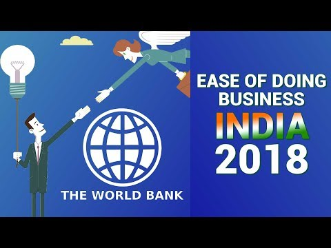 Ease of Doing Business in India – World Bank Report on Ease of Doing Business 2018