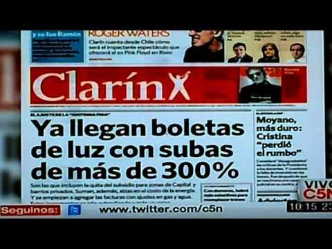 tapas de diarios argentinos hoy buenos aires marzo 2012