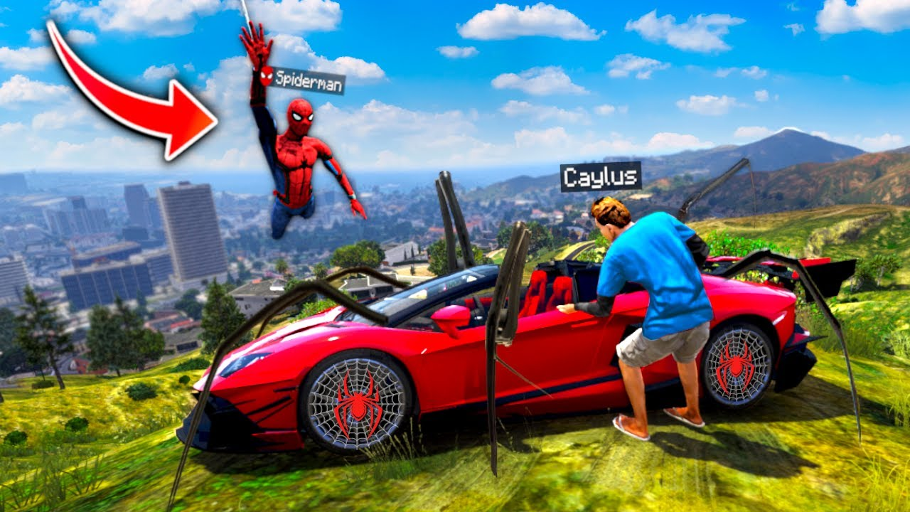 I Stole SPIDERMANS CAR In GTA 5 RP.. (Mods)
