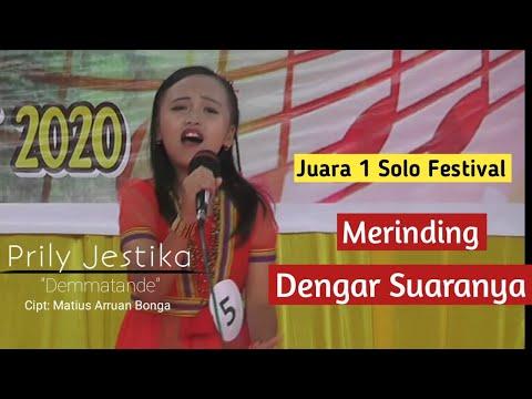 Juara I Lomba Festival Solo Usia 9 Tahun   By: Prily Jestika - Demmatande #HutkabMamasa18
