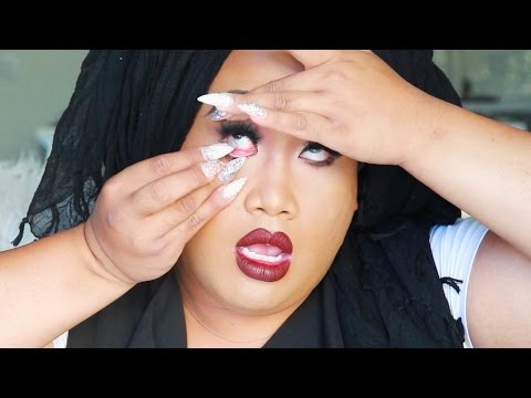 HOW TO PUT IN CONTACTS WITH LONG NAILS | PatrickStarrr