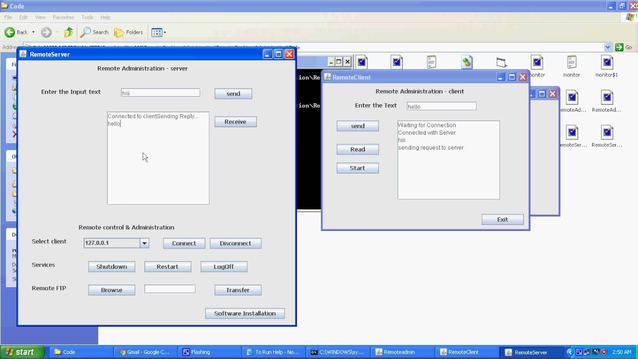 Remote Desktop Administration Java Project - YouTube