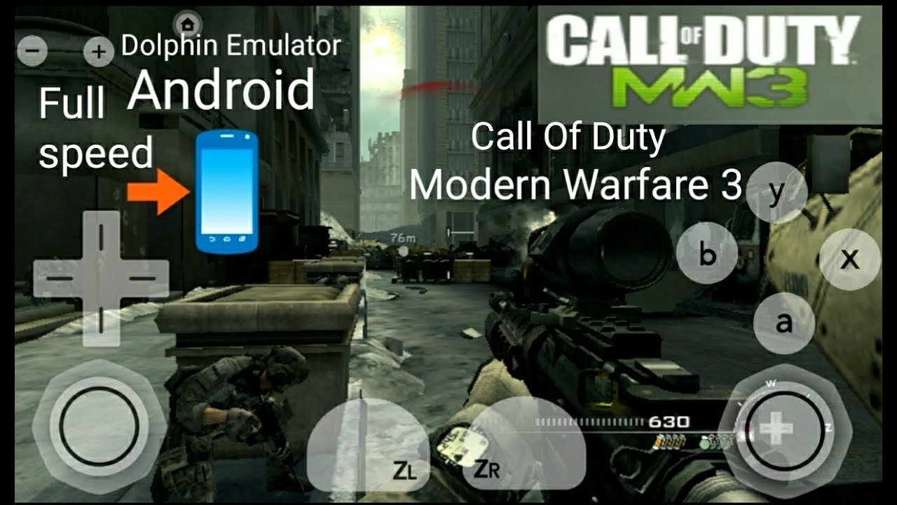 Dolphin Emulator Call Of Duty Modern Warfare 3 Android Gameplay Youtube