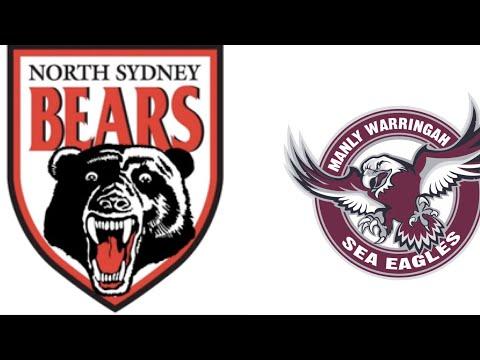 NRL Rivalries Part 6 North Sydney Bears V Manly-Warringah Sea Eagles