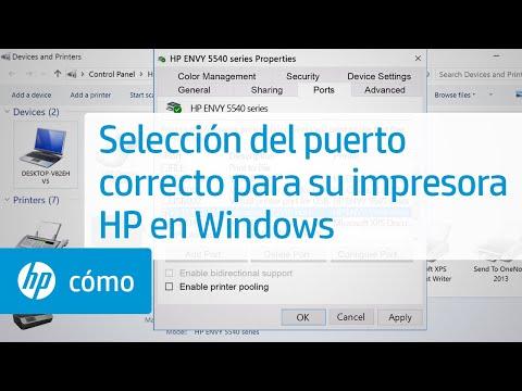 Selección del puerto correcto para su impresora HP en Windows | HP Computers | HP