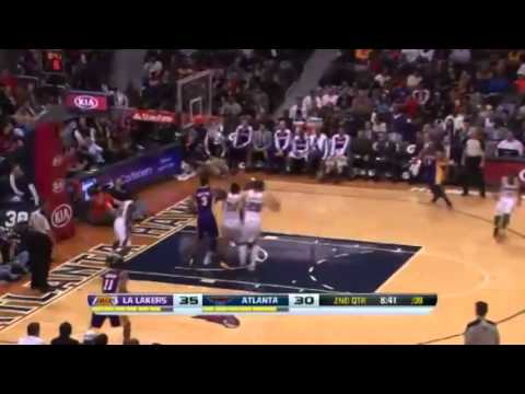 Elton Brand  The Big Block   LA Lakers vs Atlanta Hawks   December 16  2013   NBA 2013 14 Season