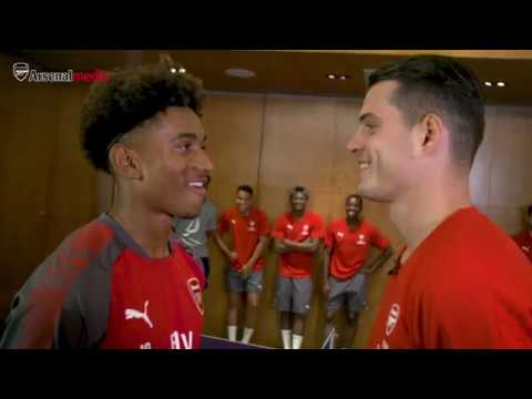 4e3cc0d0fea Granit Xhaka vs Reiss Nelson in the table tennis final - who wins