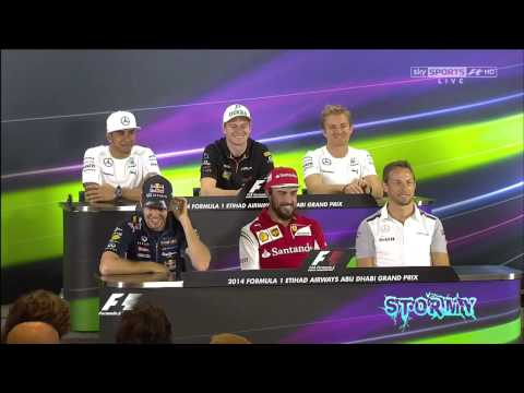 F1 Abu Dhabi 2014 FUNNY Moments Press Conference