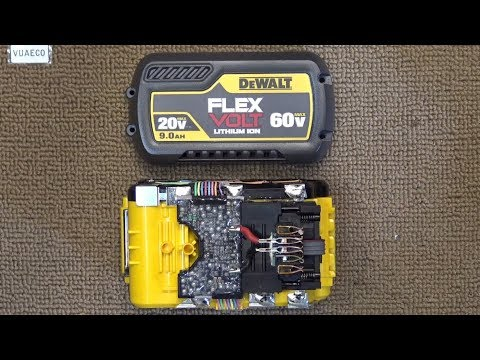 Dewalt Flexvolt 60V 9Ah battery teardown & analysis: From 20V to 60V, How does it work?