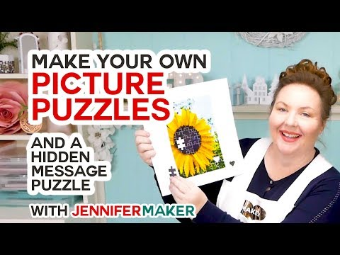 Make Picture Puzzles On A Cricut (+ A Hidden Message Puzzle!)