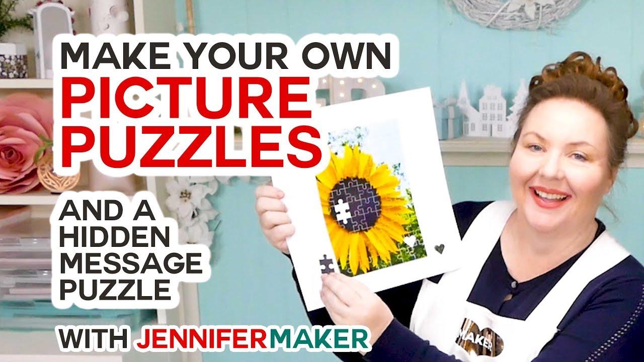 Make Picture Puzzles on a Cricut (+ a Hidden Message Puzzle!)