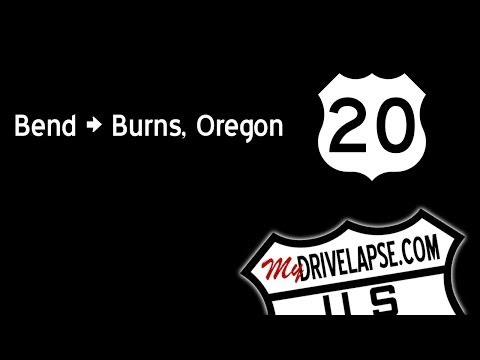 Time-Lapse Dashcam US 20 in Oregon: Bend, Brothers, Burns