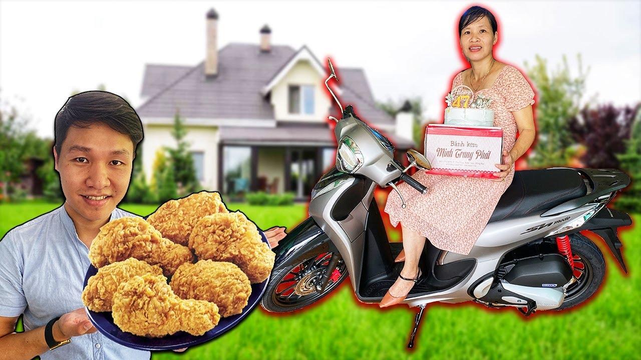 Tặng Mẹ Xe SH MODE 70 Triệu Và Làm Mâm GÀ KFC Khổng Lồ(Sinh Nhật Mẹ Yêu)