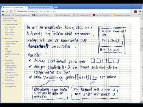 Handschrift - Kamelopedia (german Wikipedia parody)