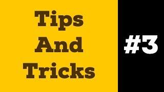 Tips And Tricks #3 | Скругление Выбранного Угла