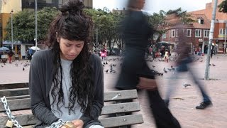 PEOPLE CHAINED UP IN PUBLIC PLACES  (SOCIAL EXPERIMENT VIDEO)