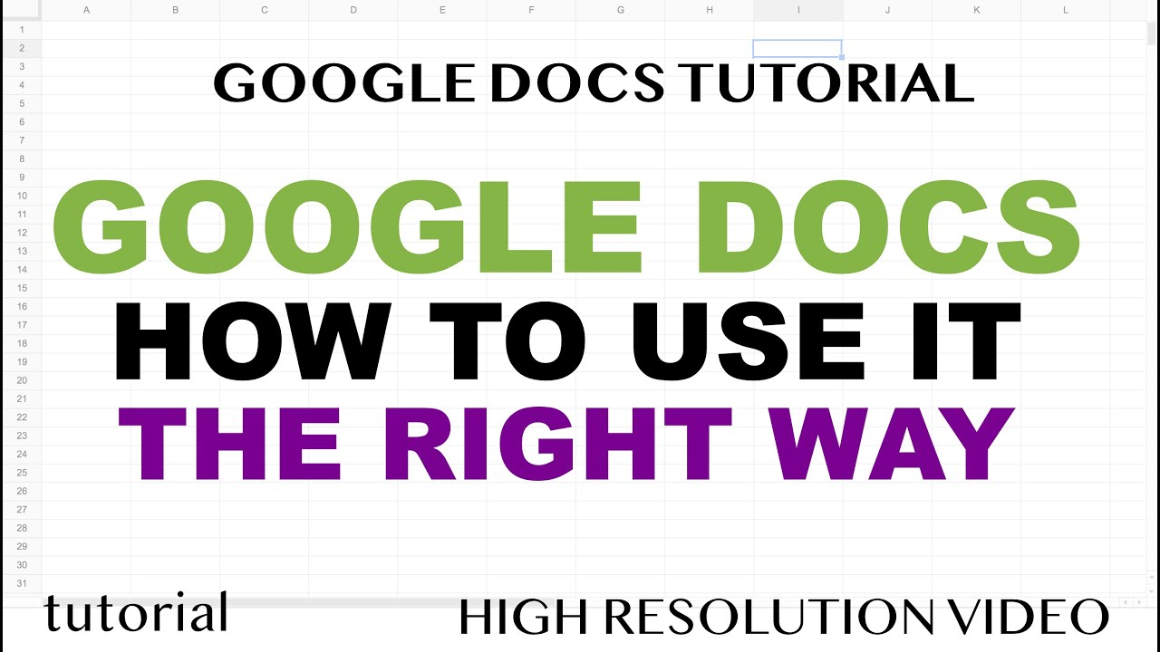 How to Use Google Docs Properly - Tutorial for Beginners