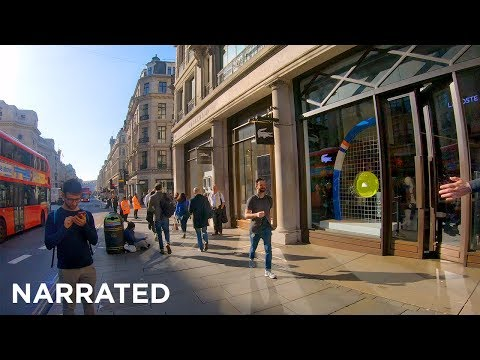 ⁴ᴷ Walking London (Narrated) - Russell Square To Regent Street Apple Store (iPhone 11 Launch)