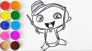 Dibuja y Colorea a Carlos de Mini Beat Power Rockers - Videos Para Nios - Learn Colors  FunKeep