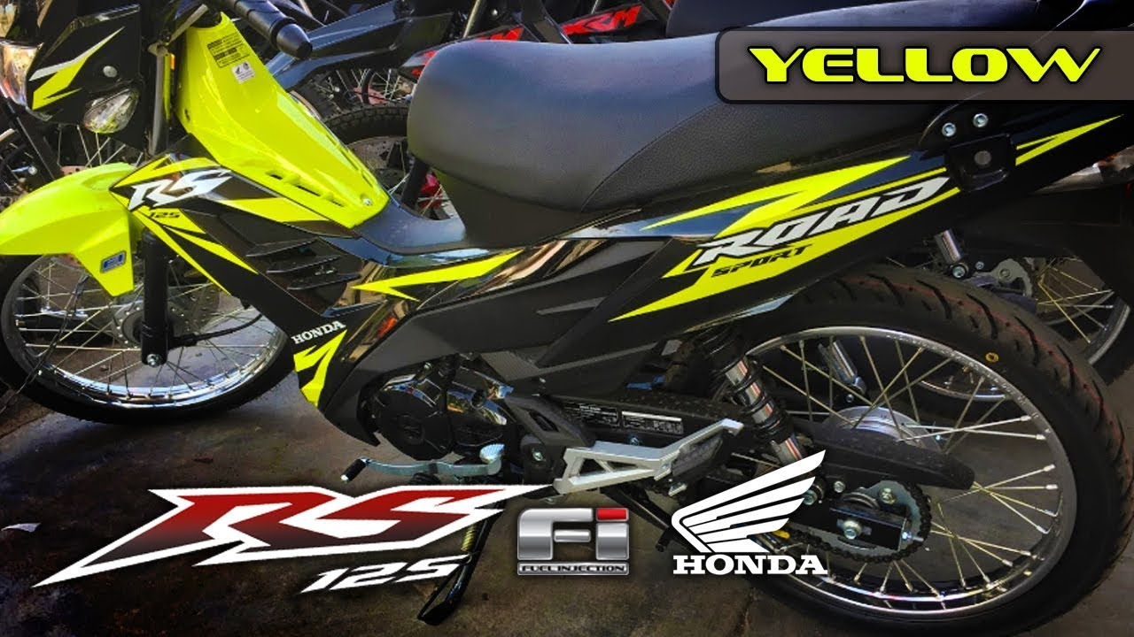 Rs 125 fi color yellow black 2017 edition honda philippines motorsiklo