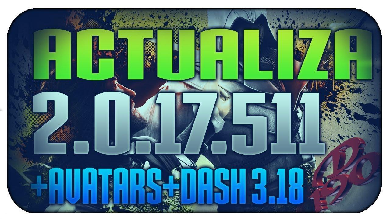 Actualización update 17511 Y dash launch v3 18 Y avatars