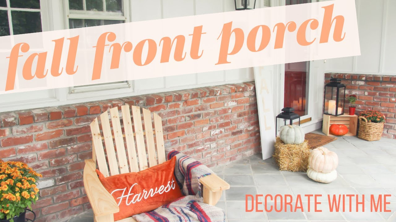 what say in english : Fall Front Porch Decor Ideas  Decorate