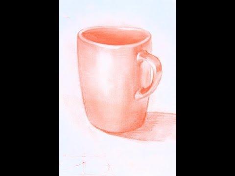 Как нарисовать чашку поэтапно