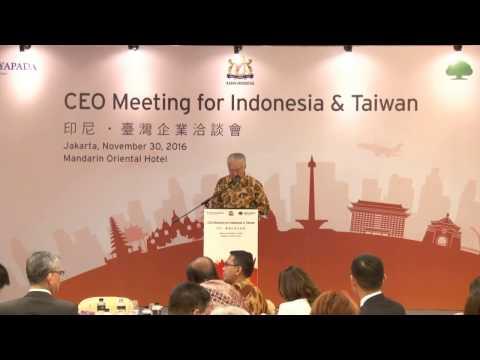 Menteri Perdagangan dalam Acara CEO Meeting for Indonesia and Taiwan