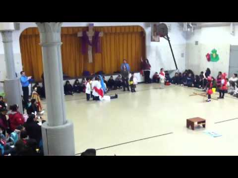 Passion play at St Procopius School
