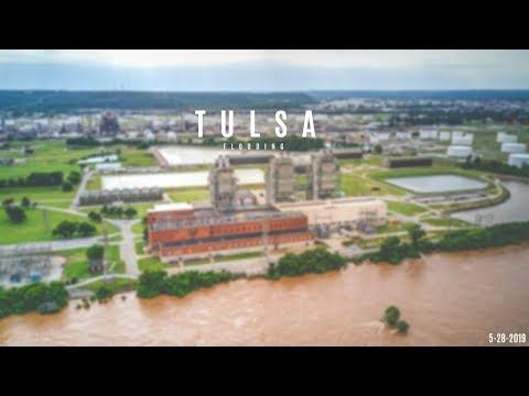 Tulsa Flooding 2019 - Arkansas River along Riverside Drive l Tulsa, Oklahoma