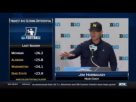 Michigan's Jim Harbaugh - 2017 Big Ten Football Media Day