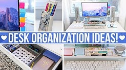 DESK & OFFICE ORGANIZATION IDEAS!