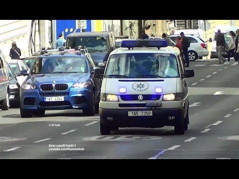 Praha Policie ČR VW T4 | Prague police patrol van responding [CZ | 11.8.2016]