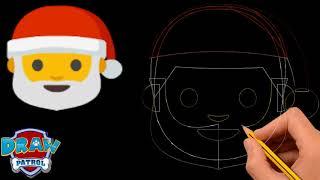 How To Draw Santa Emoji - Easy | Art For Kids Hub
